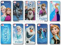 transparent side cases skin new design frozen case hard back cover for iphone 4 4S 4G 5 5s 5C