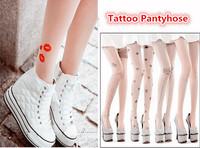 Trendy Sexy Tattoo Pattern Temptation Sheer Pantyhose Stockings Leggings 20 Patterns