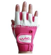 1pair Female fitness sports gym half finger gloves  weightlifting dumbbell exercise wrist brace for women girls