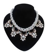 Vintage Retro Necklaces 2014 New Fashion Necklaces For Women Choker Bib Collar Necklaces Chunky Knot Cord Necklaces DFX-548