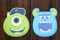 Free Shipping 2Pcs/Lot Monsters University Silicone Non-slip Mat Monsters Inc Thermal Insulation Cup Mat Sulley Coaster