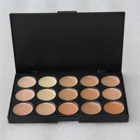 Foundation Cream Highlighter For Face 1pcs Professional 15 Concealer Camouflage Foundation Makeup Palatte  concealer palette