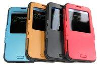 New ! Slim Armor S View Case For Samsung Galaxy S5 i9600 SPIGEN SGP Smart dormancy Sleep/Wake Cover with Open Window case