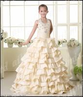 Communion Flower Girl Lace Satin White Dress Sz 2-12