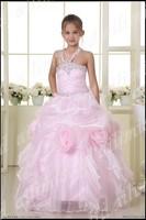 George Girls Summer Floral Flower Dress 9 10 Party Corsage coral flower Girl dress