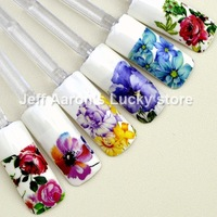 20 sheets water transfer nail polish stickers decals for nail art tips decorations styling tools Beauty flower design