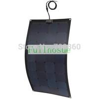 100WATT  Fiberglass MONO semi-flexible solar panel 18V for PV RV CAR battery charger new item Bendable Marine UK STOCK