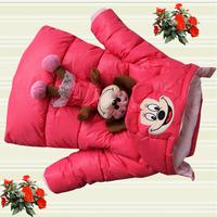 Kids winter 2014 new Korean wave of girls cotton padded jacket children in child thick coat in children