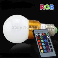 new 5W E27 remote control 16 color rgb led bulb light AC85-265