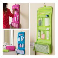 Hot 1Pcs 3 Colors New Man & Women Portable storage bags Foldable travel bag organizer bag Toiletry Bags Wash Bag ej840122