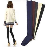 Twisted thin leg socks  tall boots woman socks