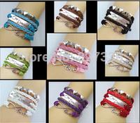 Hot classic fashion bracelet / student Bracelet hand woven hand rope infinity Bracelet