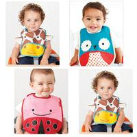Brand Sales Arrival Waterproof Fabric Cartoon Baby Pinny Zoo Animal Pattern Print Baby Bibs Burp Waterproof Cloths Free Shipping