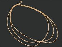 2014 Fashion Sexy Bikini Waist Chain Fine Sexy Three Chains Gold Body Chain Jewelry For Women