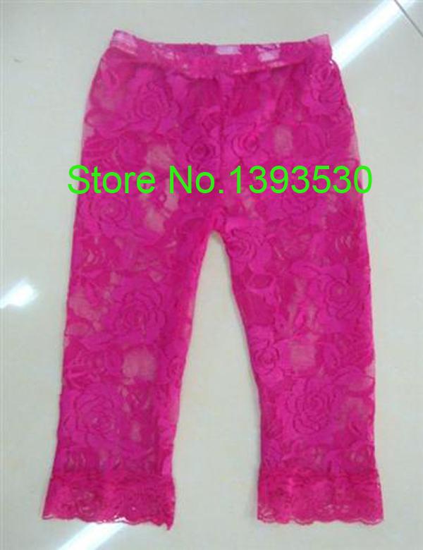 Kaiya Wholesale High Quality Toddler Baby lace leggings Kids Girls pants 5pcs/lot Free Shipping(China (Mainland))