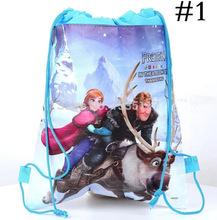 New 2014 Frozen Anna Elsa ackpack Frozen Drawstring Bags Swimming bag(China (Mainland))