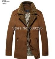 Berber fleece wool coat male business casual wool medium-long fashion slim winter thick outerwear