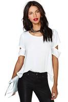 Blusa Branca Chiffon Shirt Com De Renda Camisa Blusas Femininas 2014 Fashion Plus Size Blouses Tops Women Off Shoulder Com WM017