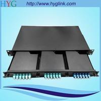 36 core mpo-lc om3 fiber jumper 1u famework model box