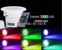 Free shipping 5W RGB Led downlight 220V 230V 240V 110V Color change Ceiling down lamp for home party decoration