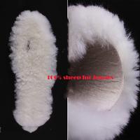 Sheepskin  Insoles Women Man Nature Fur Shoes Pad Pure WoolInsoles Warm Insoles Bota Palmilha Size 34-45