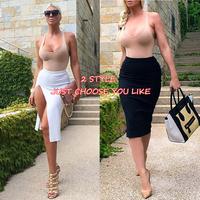 Fashion New 2014 Women Clubwear Lady Party Bodycon Dress Fashion Women Novelty 2 Pieces Bandage Casual Party Dress DropShip
