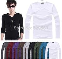 HOT!Free Shipping 2014 New Men's Casual Slim Fit Stylish Short-Sleeve Shirt Cotton T-shirt Size:M-XXL