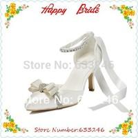 High Heels Women Pumps Satin Women's Wedding Sandals Stiletto Heel Pumps Heels With Rhinestone Shoes (more Colors)