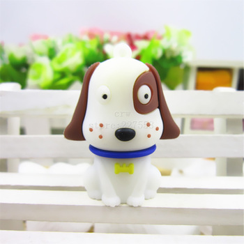 Ручка диск белый милая собака 4 ГБ / 8 ГБ / 16 ГБ / 32 ГБ usb 2.0 флэш-накопитель ...