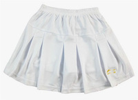 Li Ning Pleated Tennis Skirt Women Tenis Feminino 2014 Badminton Skort Tennis Skirt With Underpants White/Black Free Shipping