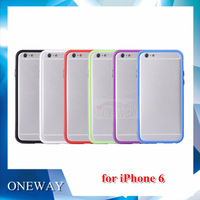 New Arrival! 6 Colorful Cases to Choose TPU Case for iPhone 6 6G Protector Case with Frame for iPhone 6