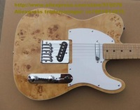 Natural Color Burl Pattern Basswood Body Rosewood Fingerboard Maple Neck S-S 2 Pickups Silver Hardware Eletric Guitar No.0068-19