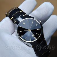 watches men luxury brand Real Sapphire Glass full steel watch Tungsten man's Wristwatches business Casual Clock ladies Quartz