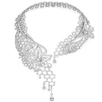 Derongems_Fine Jewelry_Luxury Boutique Wedding/Party Collar Necklace_S925 Solid Silver Necklace_Manufacturer Directly Sale