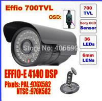 "Security 1/3"" Sony Effio CCD 700TVL OSD menu IR 30m outdoor waterproof CCTV camera with Bracket ."