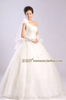 The new Korean version of the bride wedding Qi twill disk flowers flowers Puff Shoulder