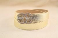 Europe and the United States diamond belt buckle ms ms adornment belt belt joker belts