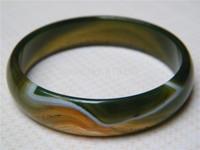 Retail / new / free shipping / women gift / 100% natural beautiful green jade bracelet 62MM