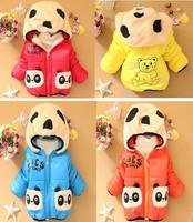 2014 winter coat Korean version of the cartoon duo Tong thick coat children jacket children new