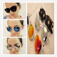 Fashion 2014  transparent sunglasses  4 colour sunglasses Men's sun glasses Goggles