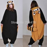 Coon cartoon animal stitch cow one piece sleepwear ,autumn & winter Animals jumpsuit,new style Pajamas For Men And Women S-XL