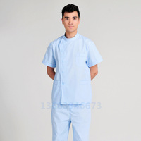 Men's summer short-sleeved split dental dental ophthalmic surgical gowns male nurse wash clothes overalls suit