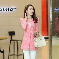 Autumn female outerwear medium-long 2014 elegant one button blazer slim thin