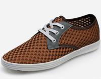 Summer male shoes network lighten-end 2014 breathable men's casual gauze wear resistant shoes