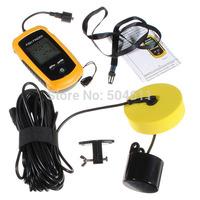 Free Shipping 0.6-100m Handheld Detect Depth Fish Location Sonar Sensor& Alarm Fish Finder System Fishing Gear