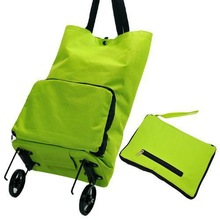 Free shipping! Wholesale high quality home portable collapsible tugboat bag / shopping trips storage bag, green travel bag(China (Mainland))