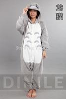 Japan Animal Anime Totoro Cosplay Pajamas One Piece Adult Onesie for Women Men Warm Christmas Halloween Party Pajama S M L XL