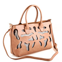 Sales Promotion!New 2014 Brand Desigual Hollow Out Women Leather Handbag Fashion Women's Shoulder Bag Ladies Tote