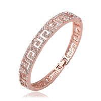 New Arrival 18K Gold Plated Bangle,18K Wedding Jewelry Women  Cuff Bangle,Charm Bracelet bangle Top Quality,Z049