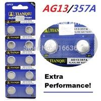 30pcs AG13 battery TIANQIU LR44 Toy Cell Button Batteries Alkaline 1166A L1154 RW82 RW42 SR1154 SP76 A76  Timer Clock